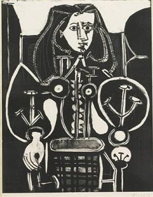 femme au fauteuil no 4 (d'aprés le violet), [armchair woman no. 4 (from the violet)] by pablo picasso